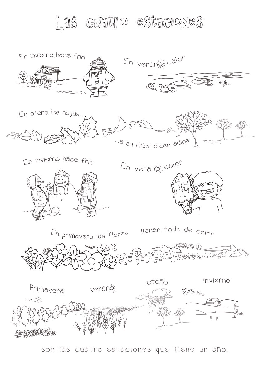 worksheet Spanish Weather And Seasons Worksheets four seasons in spanish song for kids rockalingua related content